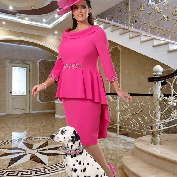 Lady-in-a-pink-dress-and-matching-pink-hat