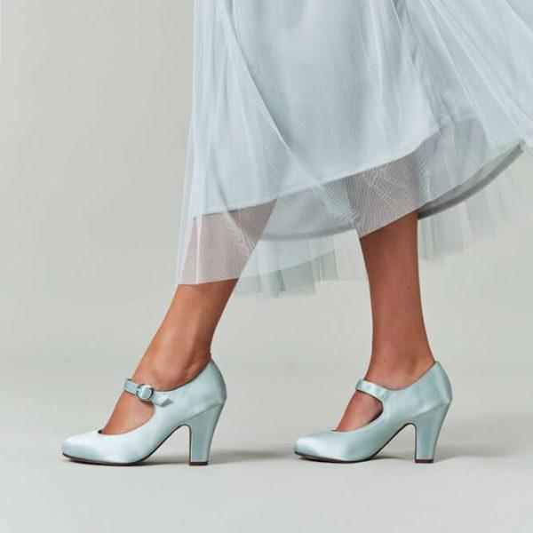 light blue shoes