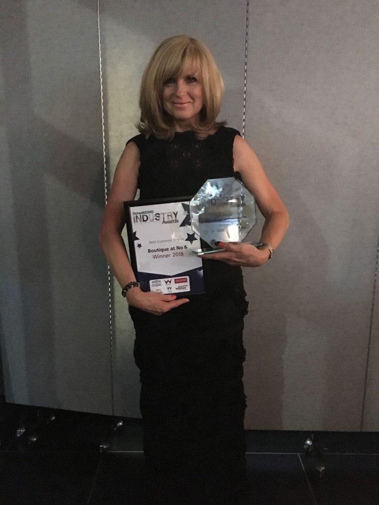 Sandra-Swain-winning-Echo-Industry-awards